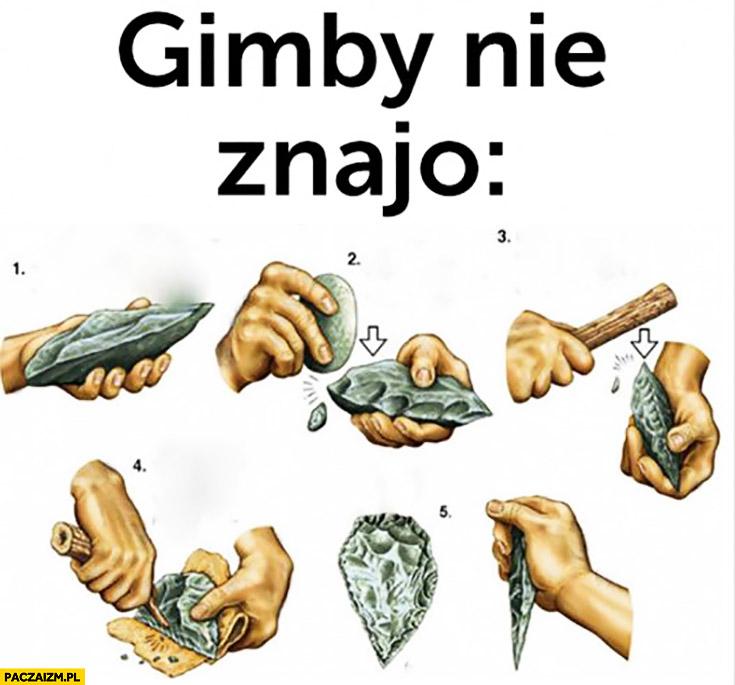 Gimby nie znają pierwsze narzędzia człowieka