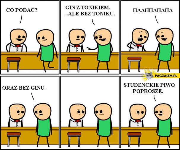 Gin z tonikiem bez ginu i toniku, czyli studenckie piwo