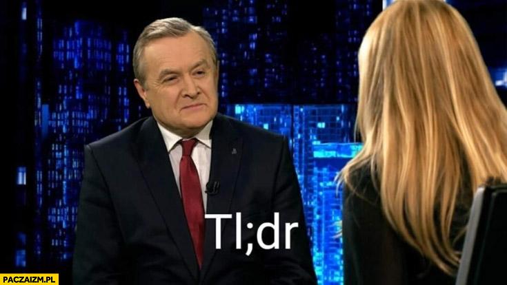 Gliński TL;DR Olga Tokarczuk nie czytał