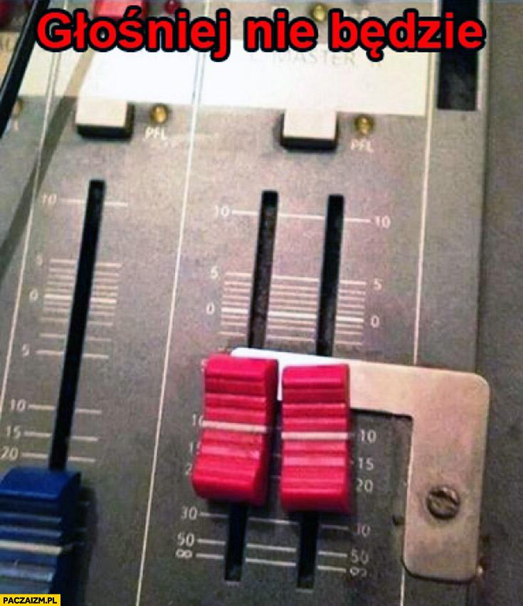 Głośniej nie będzie blokada mixer