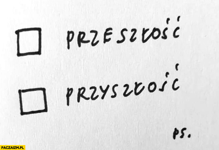 Głosowanie wybory karta do głosowania przeszłość przyszłość