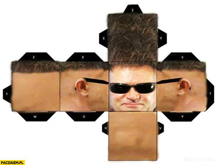 Głowa Rutkowskiego kwadrat sześcian do złożenia