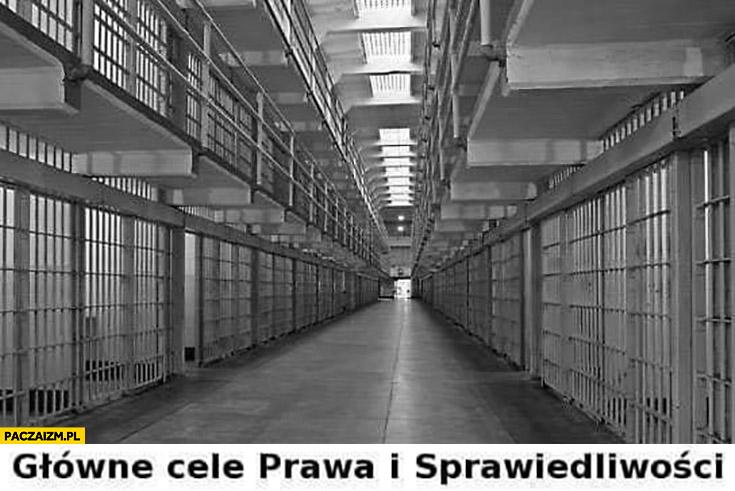 Główne cele prawa i sprawiedliwości dosłownie cele w więzieniu