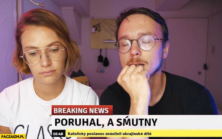 Gonciarz podymał a smutny breaking news