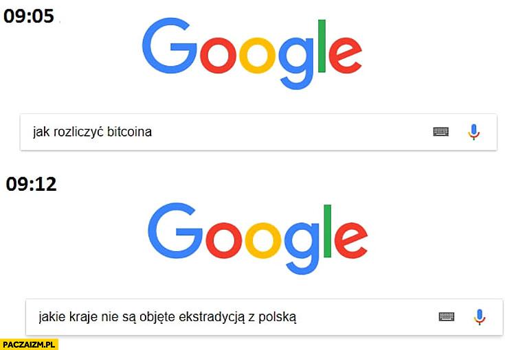 Google jak rozliczyć bitcoina, chwilę później jakie kraje nie są objęte ekstradycją z Polską