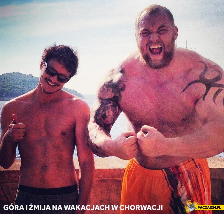 Góra i Żmija na wakacjach w Chorwacji Gra o Tron