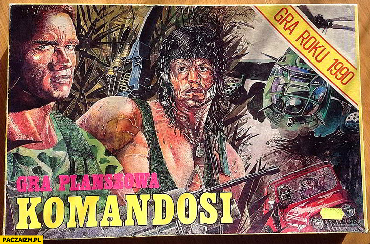 Gra planszowa Komandosi Stallone Schwarzenegger