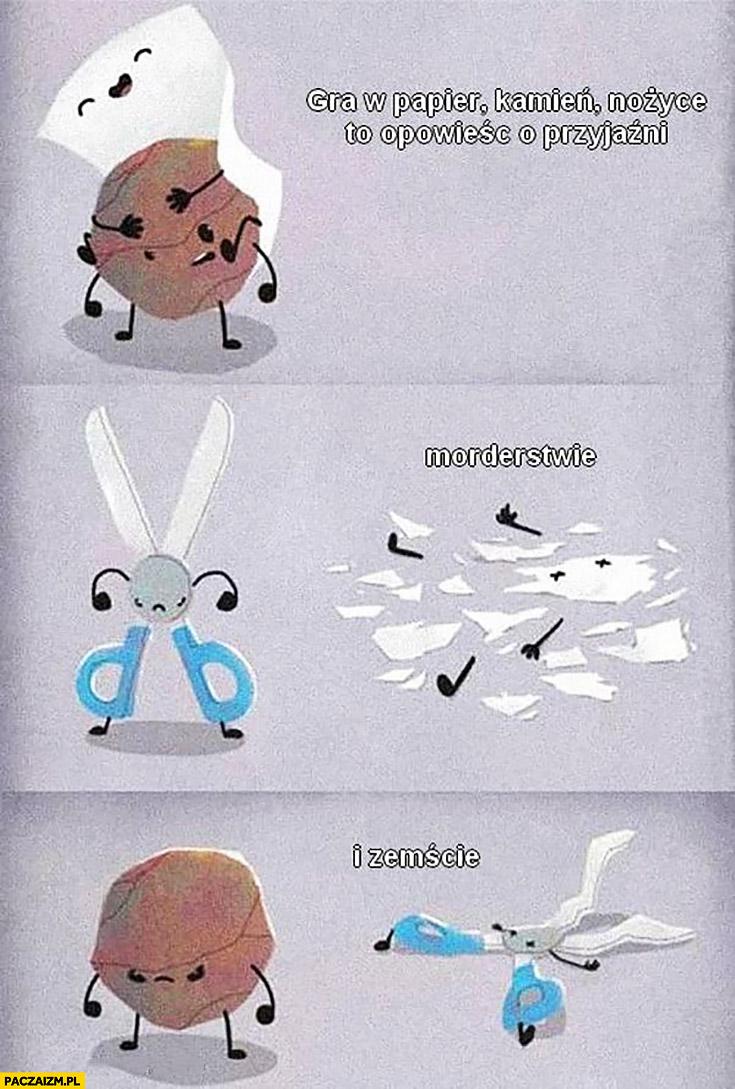 Gra w papier, kamień, nożyce to opowieść o przyjaźni, morderstwie i zemście