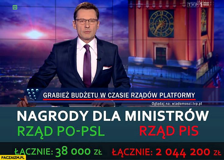 Grabież budżetu w czasie rządów Platformy Ziemiec Wiadomości TVP paski pasek tvPiS