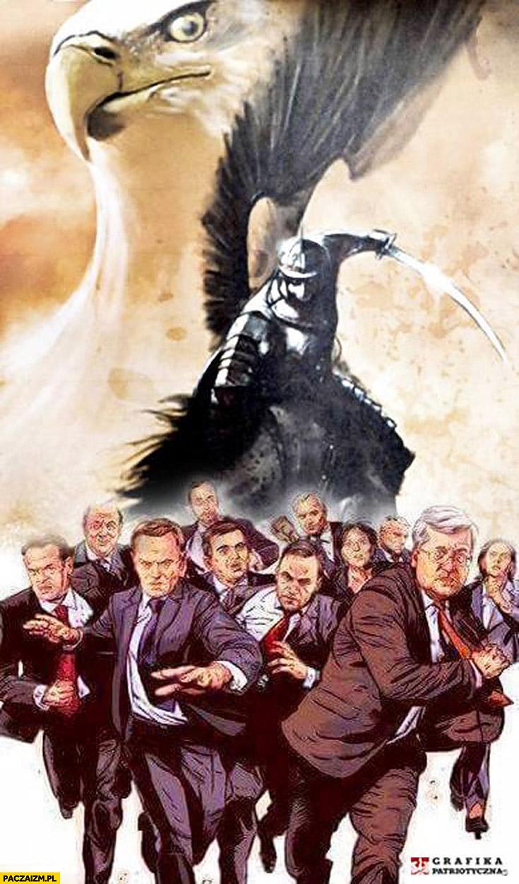 Grafika patriotyczna Tusk Komorowski PO Platforma orzeł husaria husarz