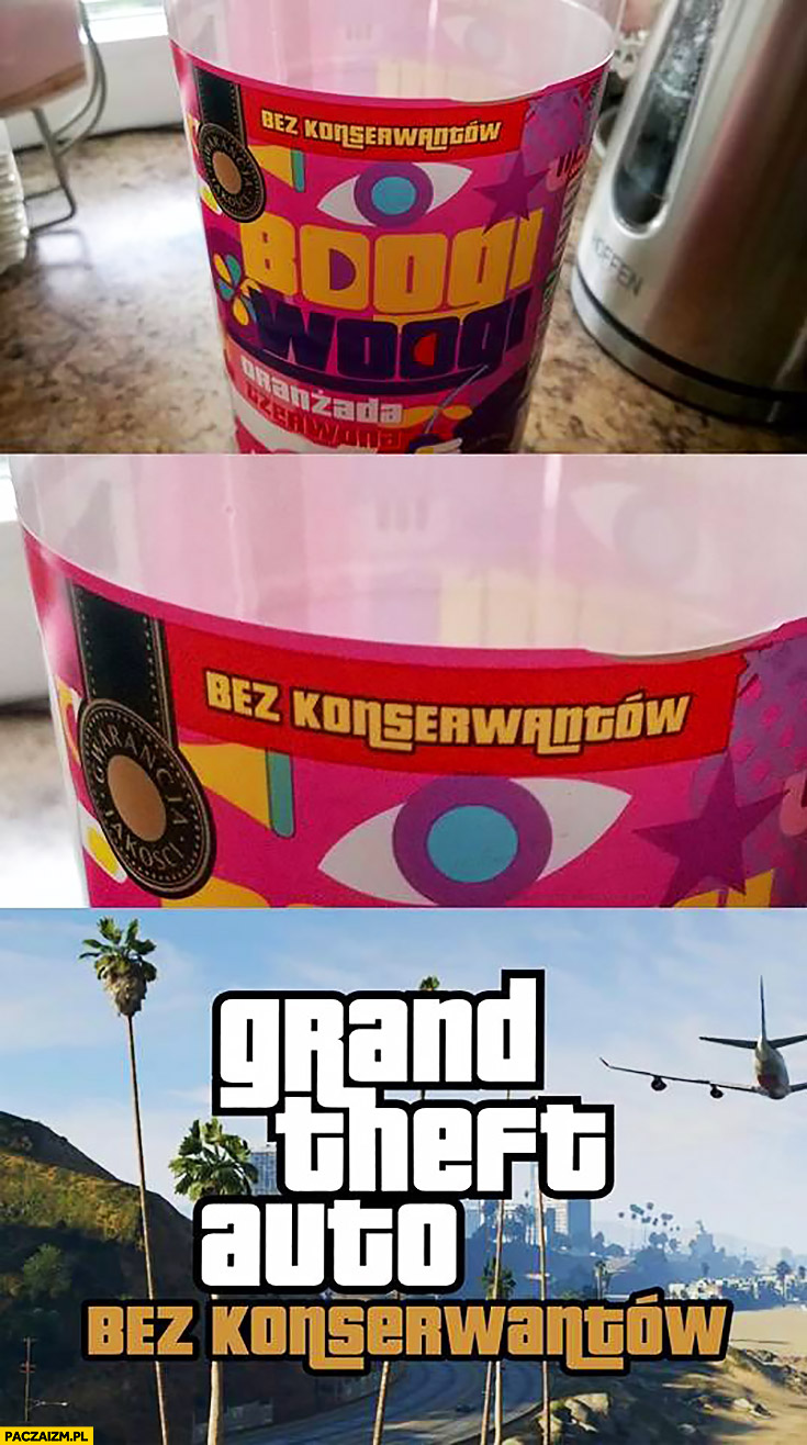 Grand Theft Auto bez konserwantów napis czcionka font GTA