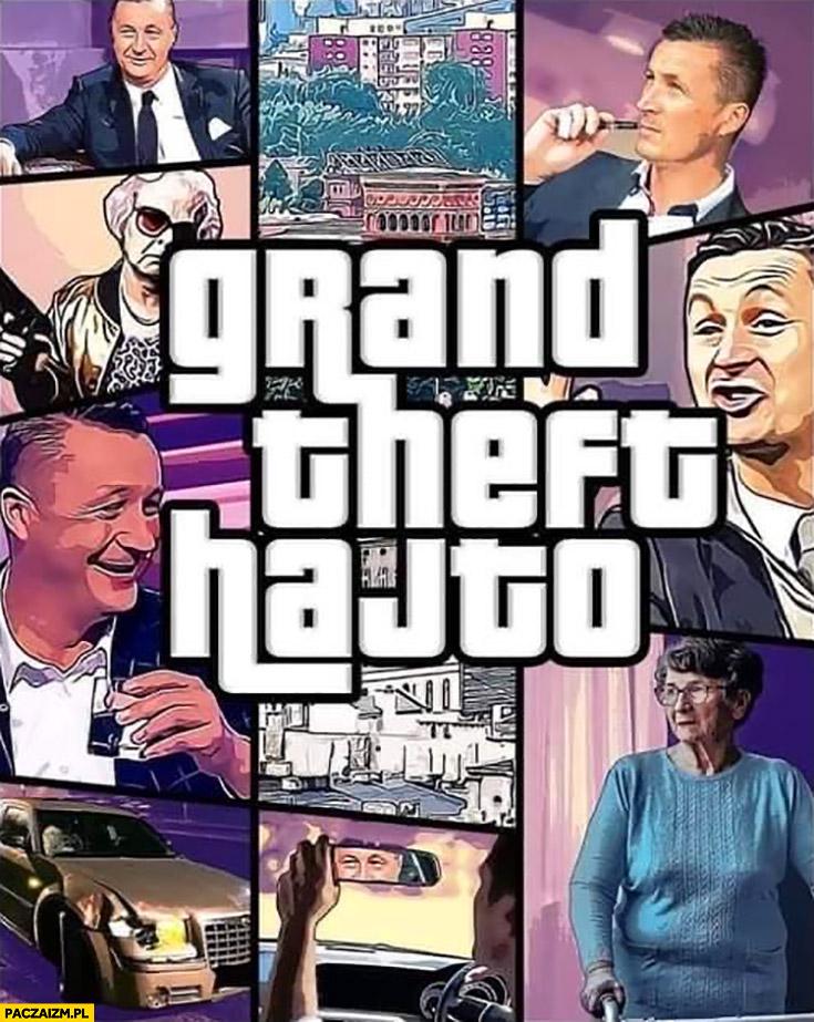 Grand Theft Hajto auto przeróbka okładki gry baba na pasach
