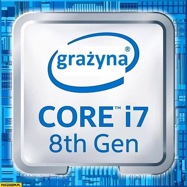 Grażyna Core i7 procesor przeróbka