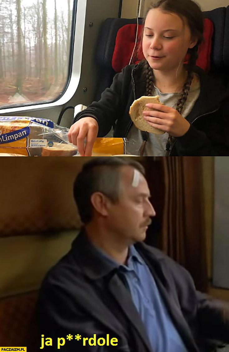 Greta Thunberg jedzie pociągiem Dzień Świra ja pierdziele