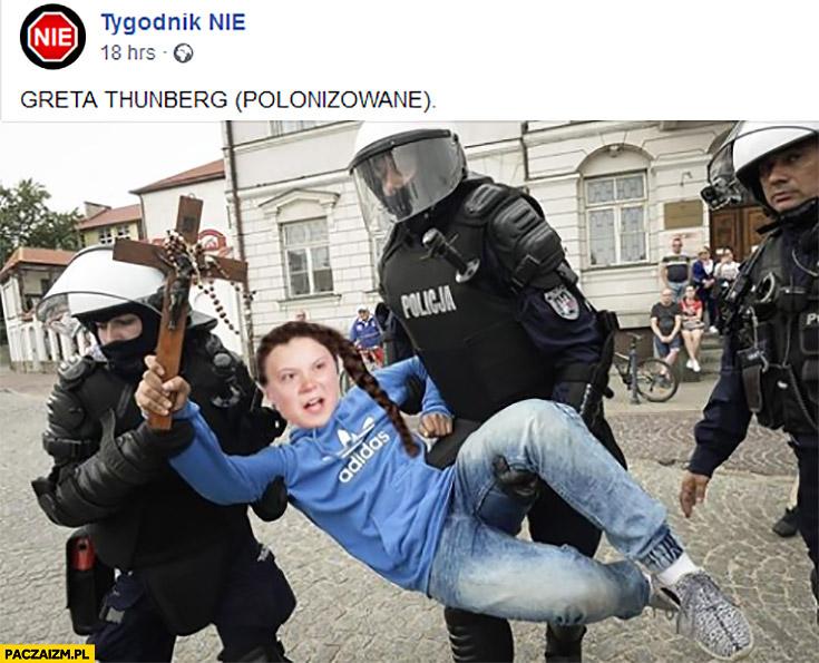 Greta Thunberg polonizowane chłopak z krzyżem Tygodnik Nie
