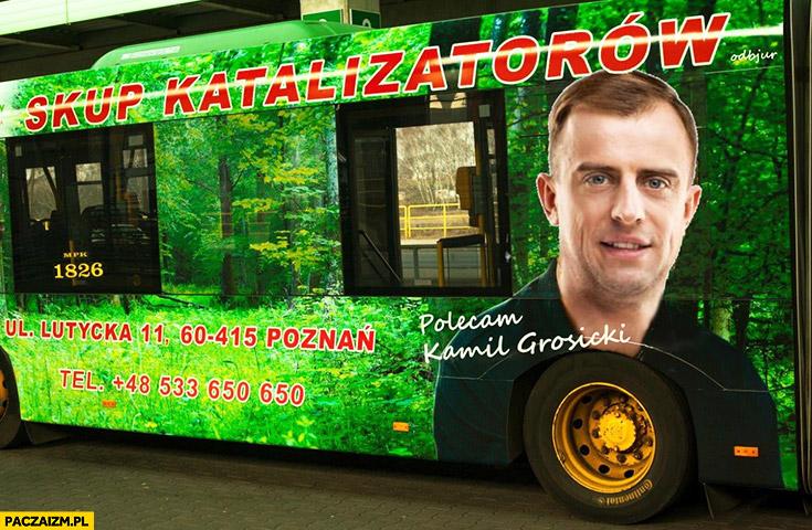 Grosicki reklamuje skup katalizatorów przeróbka reklamy Jakimowicz