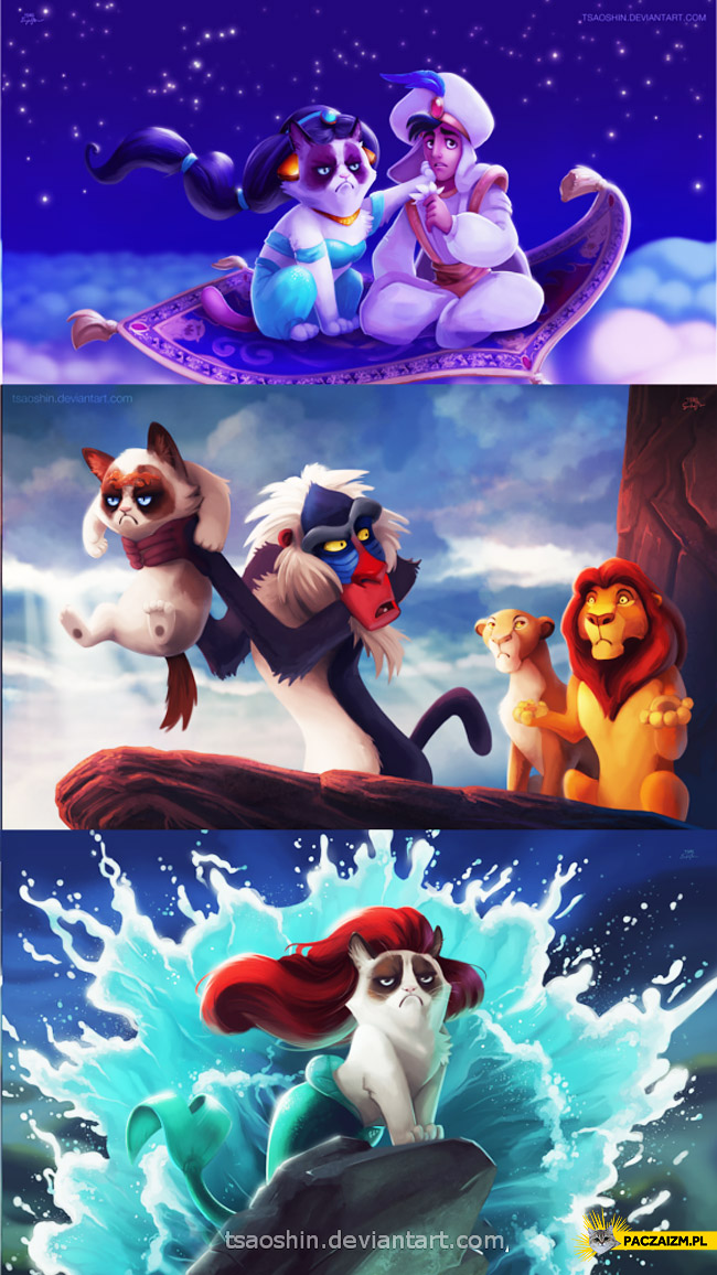 Grumpy Cat w bajkach Disney'a
