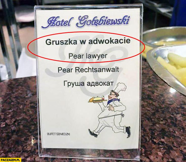 Gruszka w adwokacie pear lawyer