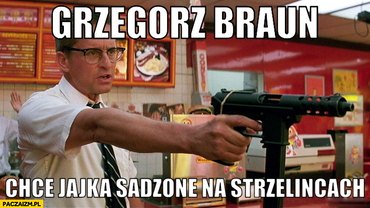 Grzegorz Braun chce jajka sadzone na strzelnicach film Upadek