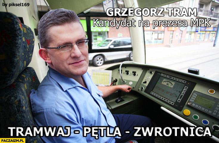 Grzegorz Tram tramwaj pętla zwrotnica