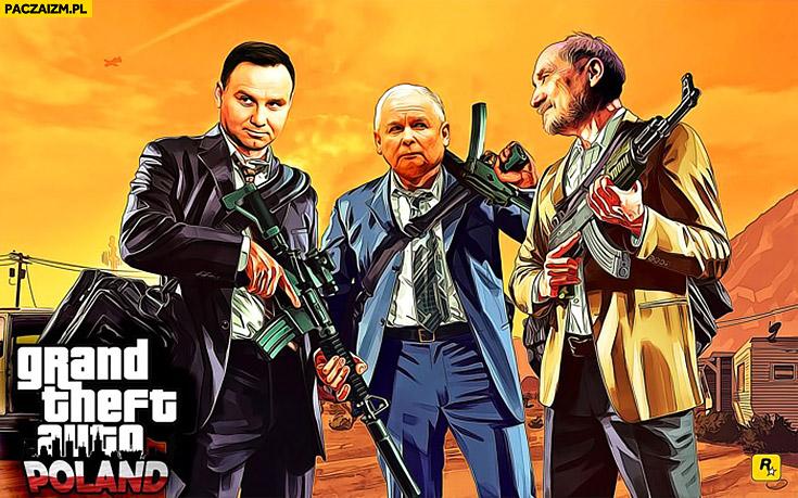 GTA wersja polska Duda Kaczyński Macierewicz Grand Theft Auto Poland