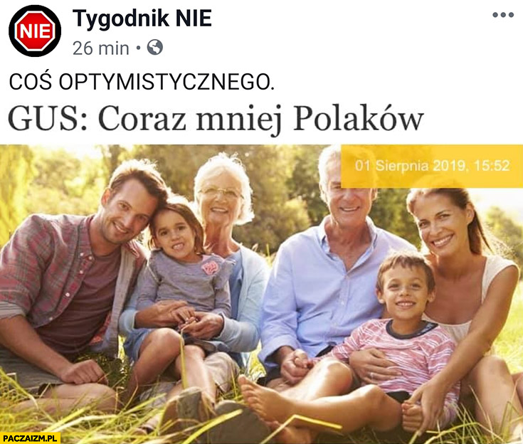 GUS: coraz mniej Polaków coś optymistycznego