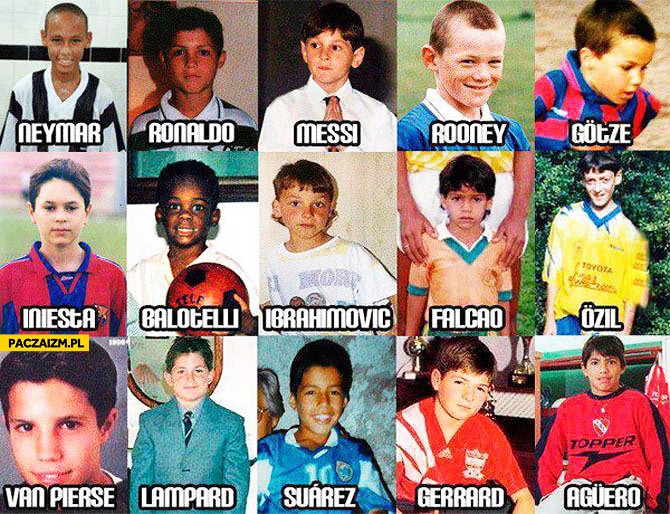 Gwiazdy piłki nożnej jako dzieci