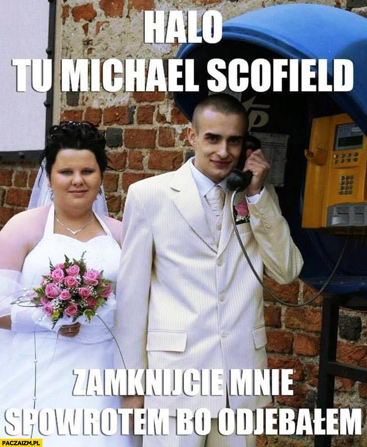 Halo? Tu Michael Scofield, zamknijcie mnie z powrotem bo odwaliłem ożenił się z brzydką grubą laska