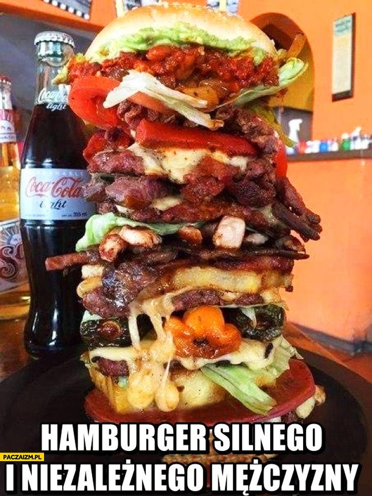 Hamburger silnego i niezależnego mężczyzny