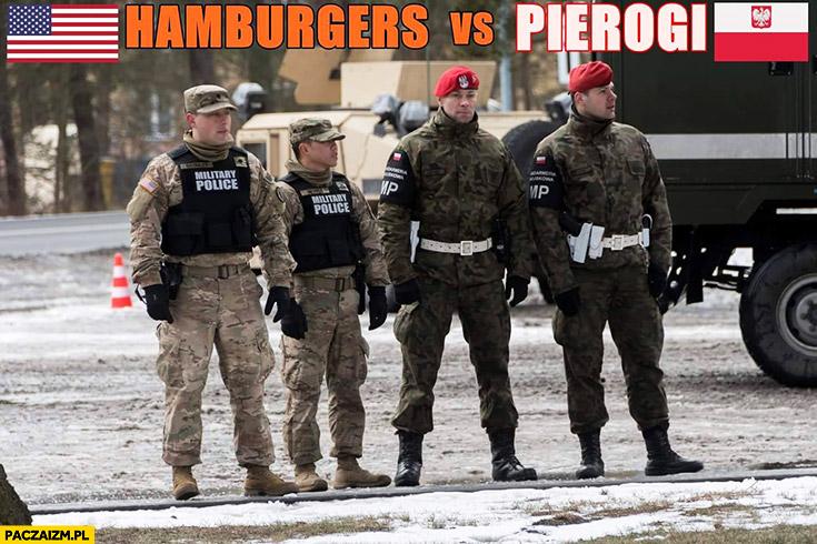 Hamburgery vs pierogi żołnierze USA Polska porównanie