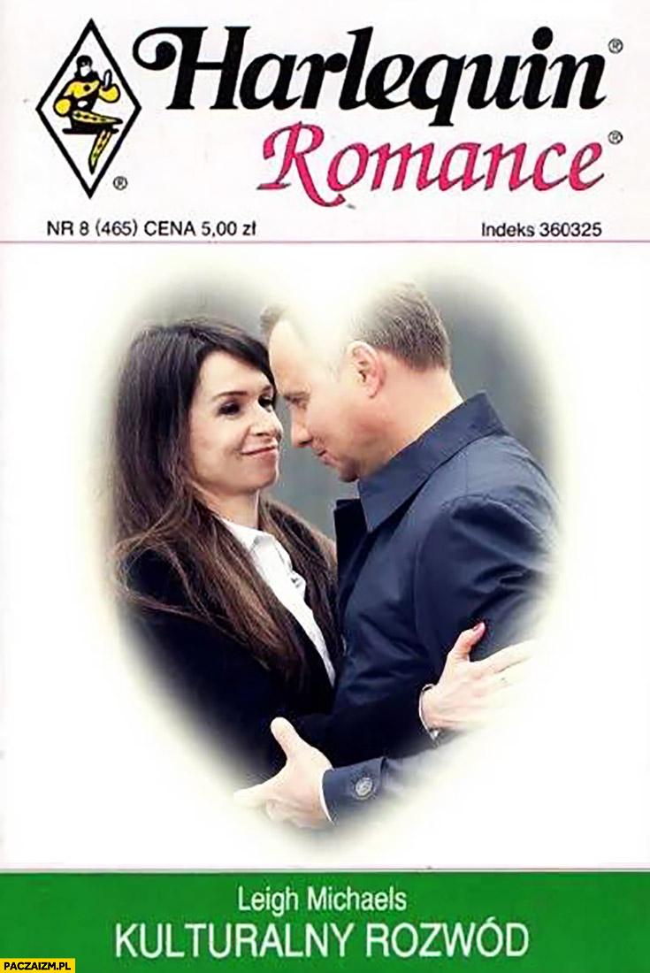 Harlequin romance kulturalny rozwód Marta Kaczyńska Andrzej Duda okładka książki