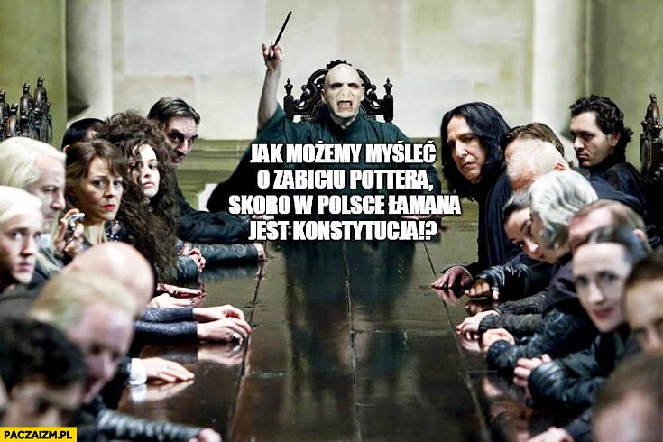 Harry Potter jak możemy myśleć o zabiciu Pottera skoro w Polsce łamana jest konstytucja? Voldemort