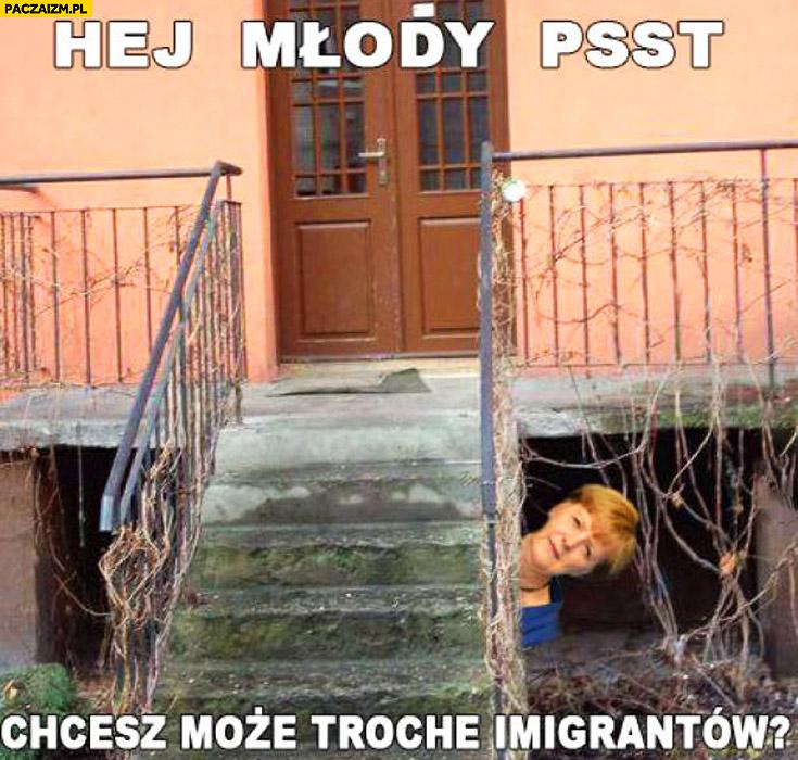 Hej młody psst chcesz może trochę imigrantów? Merkel