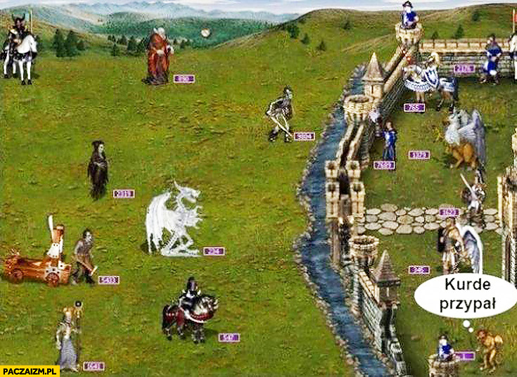 Heroes of Might and Magic jeden kurde przypał