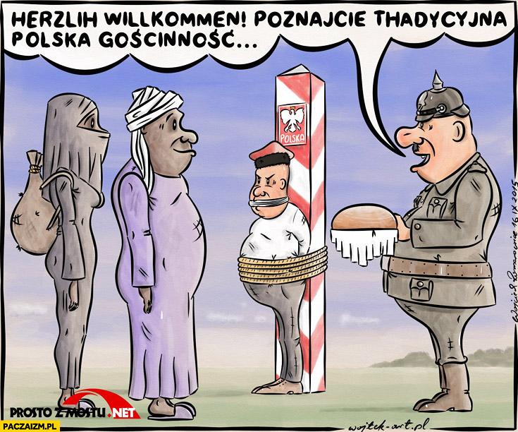 Herzlih willkomen poznajcie tradycyjną polską gościnność Niemiec Polak przywiązany