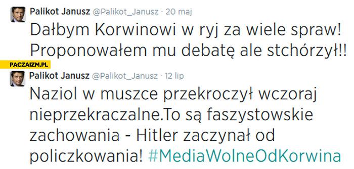 Hipokryzja Palikota Hitler zaczynał od policzkowania