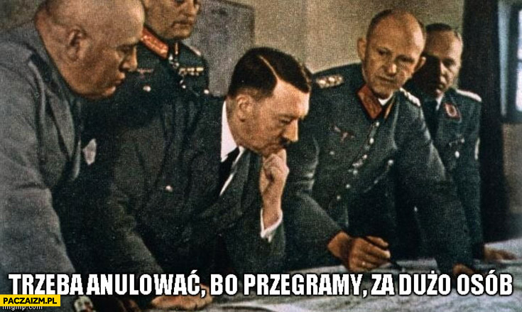 Hitler trzeba anulować bo przegramy, za dużo osób. PiS głosowanie w sejmie