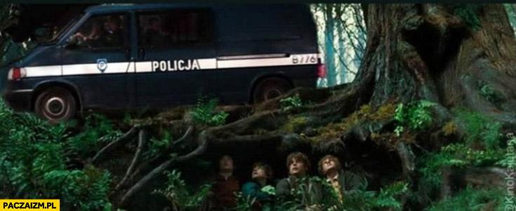 Hobbity ukrywają się przed Polską policją Władca pierścieni koronawirus obostrzenia zakaz wychodzenia