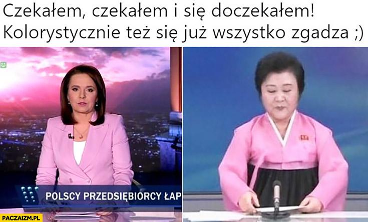 Holecka Wiadomości TVP jak w Korei Północnej czekałem i się doczekałem kolorystycznie się zgadza