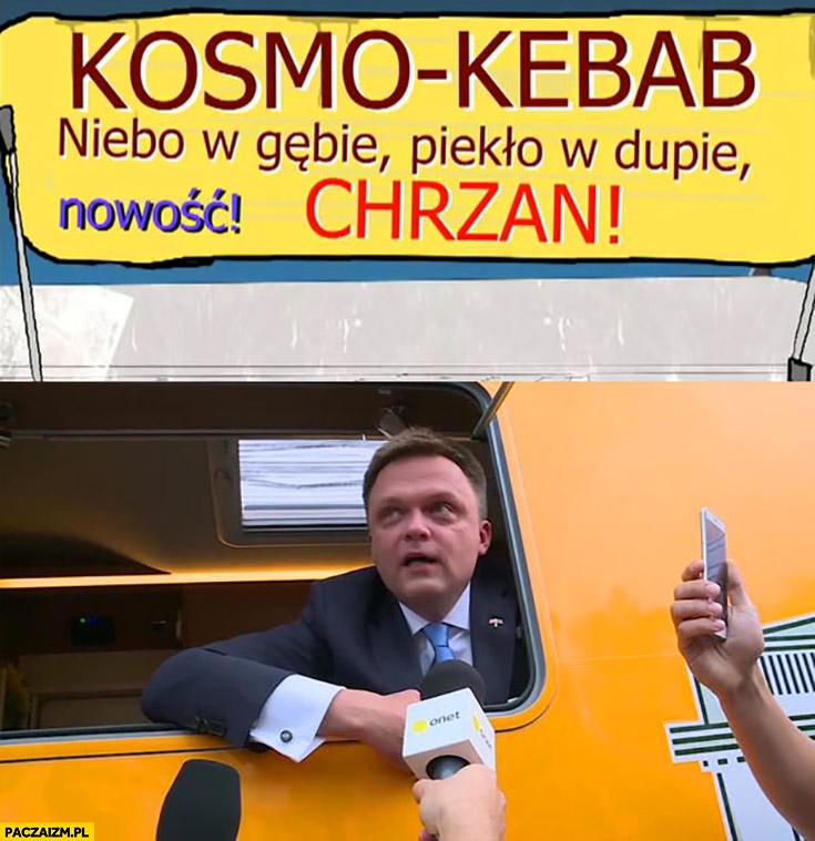 Hołownia budka z kebabem sprzedawca przeróbka