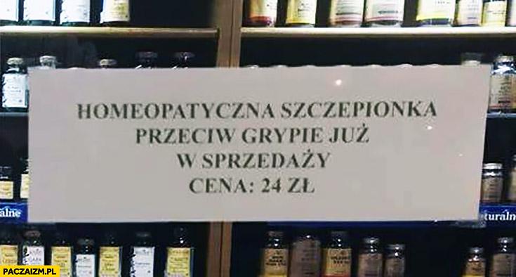 Homeopatyczna szczepionka przeciw grypie już w sprzedaży cena 24 zł