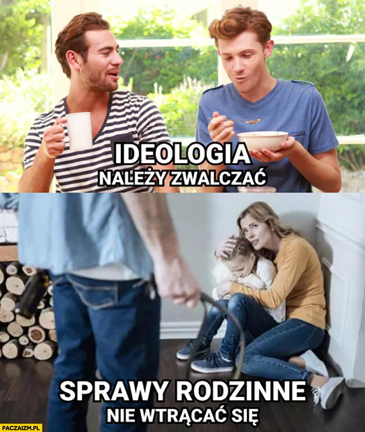Homoseksualiści: ideologia, należny zwalczać. Gwałty, bicie: sprawy rodzinne, nie wtrącać się