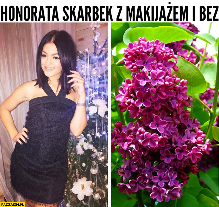 Honorata Skarbek z makijażem i bez