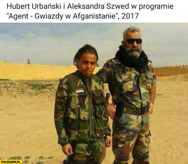Hubert Urbański i Aleksandra Szwed w programie gwiazdy w Afganistanie