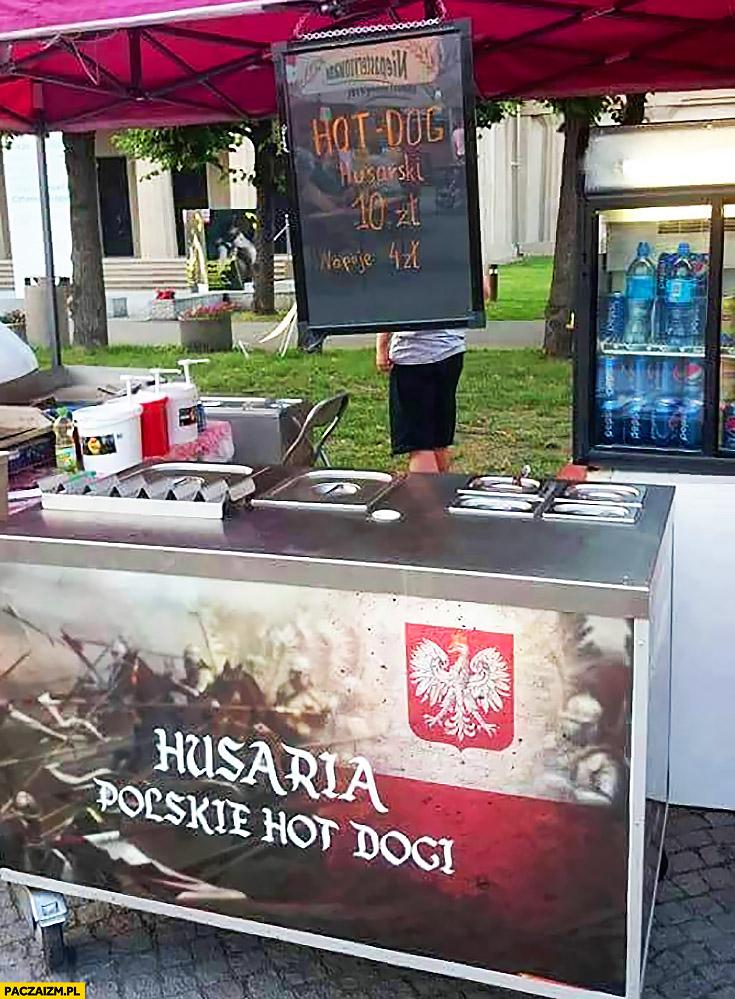 Husaria polskie hot dogi budka hotdog husarski