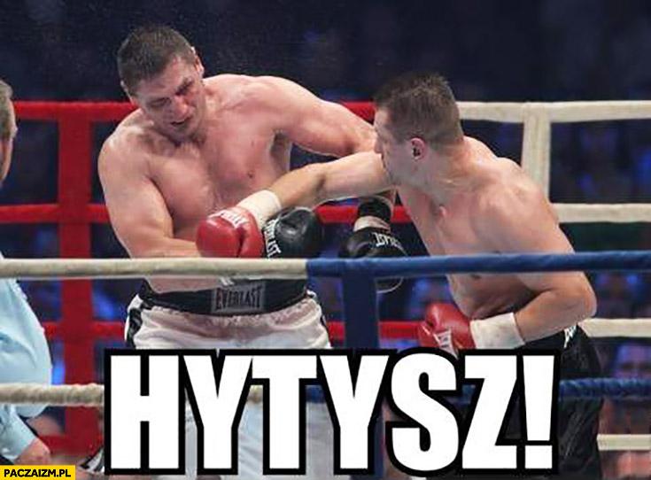 Hytysz dźwięk kiedy bokserzy walczą Andrzej Gołota