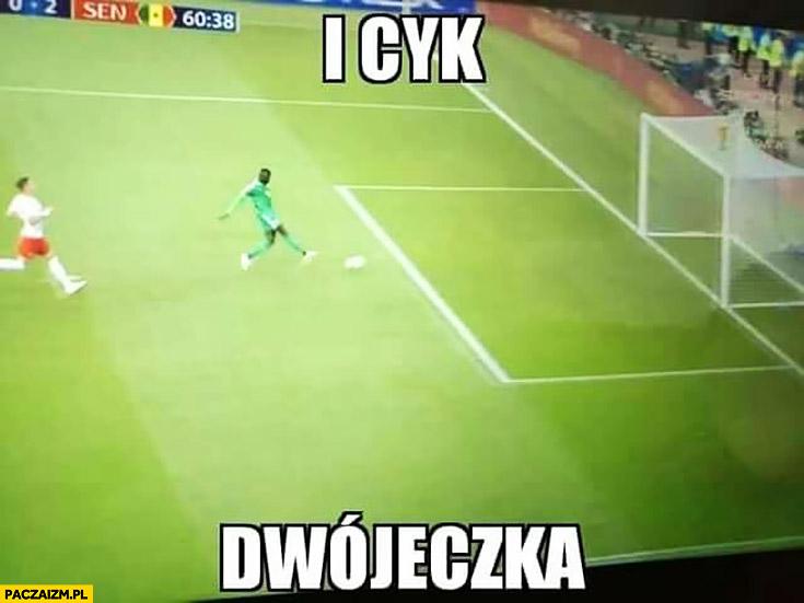 I cyk dwójeczka Senegal strzela Polsce drugą bramkę mecz na mundialu mistrzostwach świata