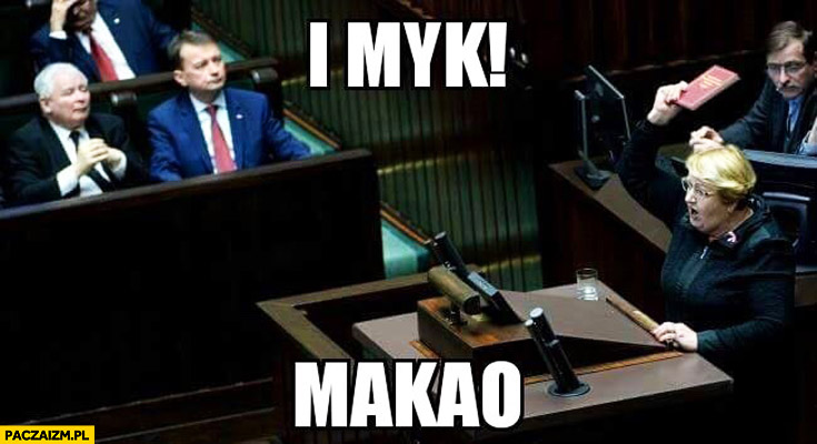 I myk makao Henryka Krzywonos konstytucja w sejmie czerwona książeczka