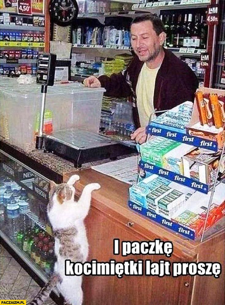 I paczkę kocimiętki lajt proszę kot robi zakupy