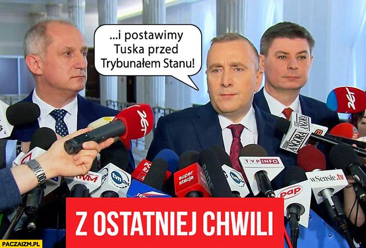 I postawimy Tuska przed Trybunałem Stanu Platforma Obywatelska PO Grzegorz Schetyna